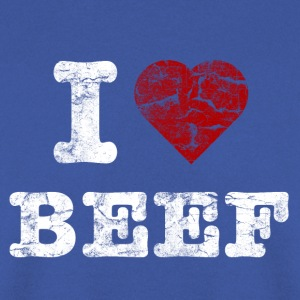 I Love BEEF vintage light Shirts - Men's Sweatshirt