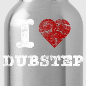 I Love DUBSTEP vintage light T-shirts - Drikkeflaske
