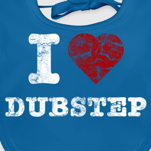 I Love DUBSTEP vintage light Tee shirts - Bavoir bio Bébé