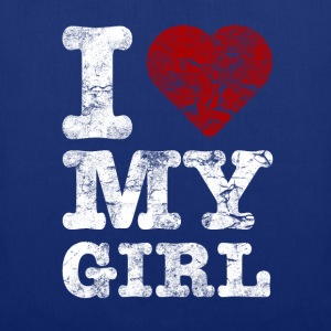 I Love my GIRL vintage light Sweat-shirts - Tote Bag