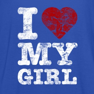 I Love my GIRL vintage light Sweat-shirts - Débardeur Femme marque Bella