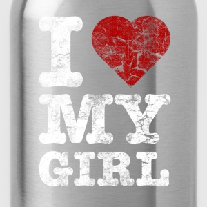 I Love my GIRL vintage light Sweat-shirts - Gourde
