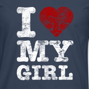 I Love my GIRL vintage light Sweat-shirts - T-shirt manches longues Premium Homme