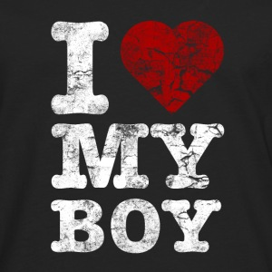 I Love my BOY vintage light Pullover & Hoodies - Männer Premium Langarmshirt