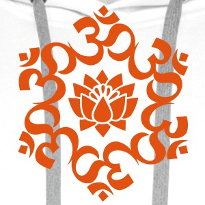 OM Lotus, Meditation, Yoga, AUM, Buddhism T-Shirts - Men's Premium Hoodie