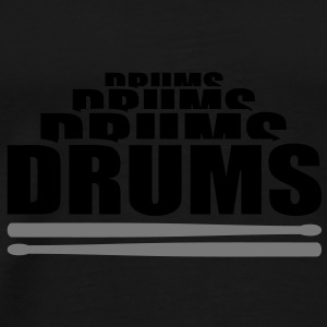 Drums drummer. Musicians.. Caps & Hats - Men's Premium T-Shirt