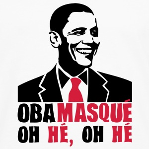 obamasque oh he president humour2 provoc Tee shirts - T-shirt manches longues Premium Homme