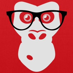 Nerd Ape with glasses Tee shirts - Tote Bag