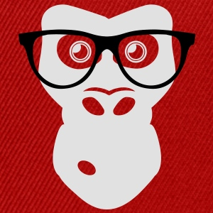 Nerd Ape with glasses Tee shirts - Casquette snapback