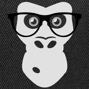 Nerd Ape with glasses Shirts - Snapback Cap