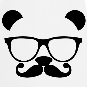 Nerd Panda with Glasses Camisetas - Delantal de cocina