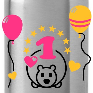 Finalmente uno! Prima Birthday Party Balloon Orso Magliette - Borraccia