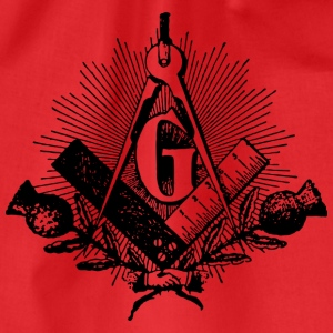 freemason symbol, masonic square & compass T-shirts - Gymnastikpåse