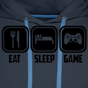 eat sleep game T-Shirts - Männer Premium Hoodie