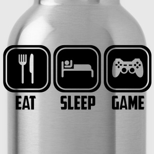 eat sleep game T-Shirts - Trinkflasche