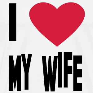 i love my wife Hoodies & Sweatshirts - Men's Premium T-Shirt