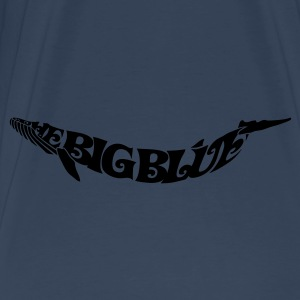 Silhouette in letters: Blue Whale - the Big Blue Bags  - Men's Premium T-Shirt