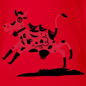 the red cow / t-shirt Shirts - Organic Short-sleeved Baby Bodysuit