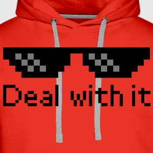 Deal With It Shirts - Men's Premium Hoodie