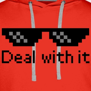 Deal With It Shirts - Mannen Premium hoodie