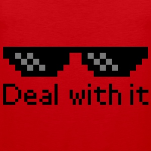 Deal With It Shirts - Mannen Premium tank top