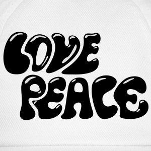 Love Peace seventies 70s retro style flower power Otros - Gorra béisbol