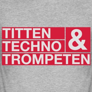 Titten Techno & Trompeten - Männer Slim Fit T-Shirt