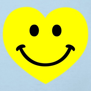 Sky blue smiley smiling heart Accessoires - Kinder Bio-T-Shirt