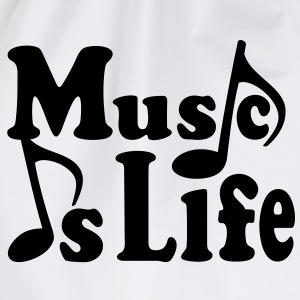 Music is Life. Muziek noten. Muziek muzikant.  Shirts - Gymtas