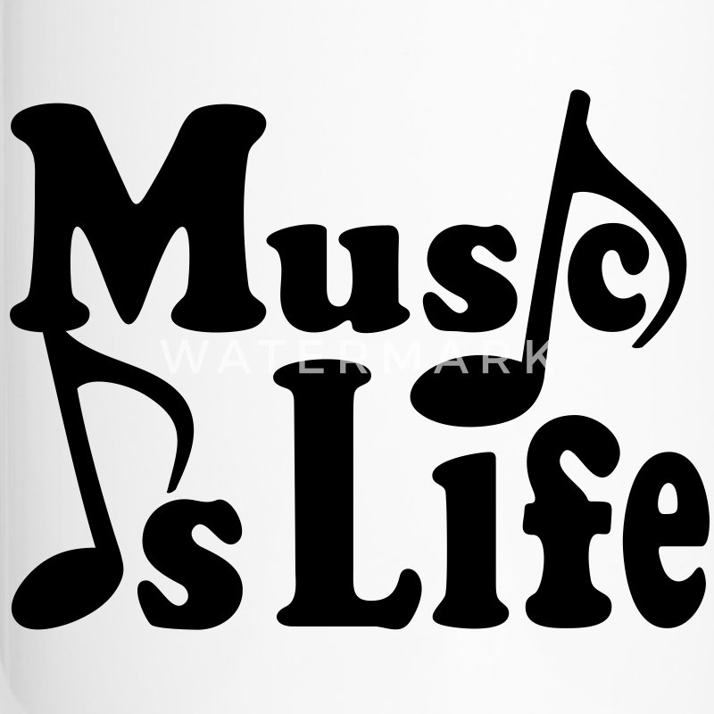 Music is Life. Musiknoten Noten Flaschen & Tassen - Thermobecher