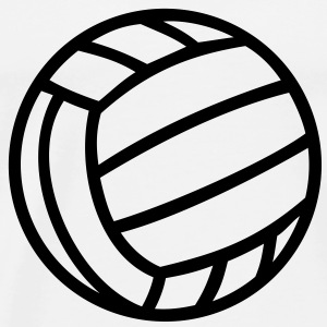 Volleyboll boll Volleyball Ball Tröjor - Premium-T-shirt herr