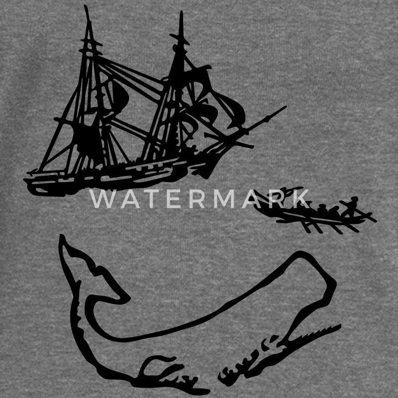 Moby Dick illustration Sweat-shirts - Pull Femme col bateau de Bella