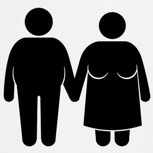 fat couple Flasker og krus - Forklæde