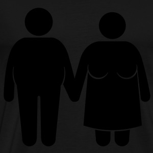 fat couple Gensere - Premium T-skjorte for menn