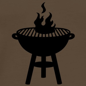 grill with fire Bags  - Men's Premium T-Shirt