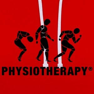 Three People Physiotherapie Shirt Frauen - Kontrast-Hoodie