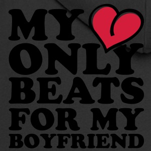 my heart beats only for my boyfriend Shirts - Men's Premium Hooded Jacket