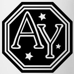 AY  hexagon monogram bold capital initial letters - Mug