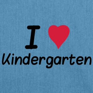 I Love Kindergarten Shirts - Shoulder Bag made from recycled material