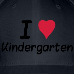 I Love Kindergarten Shirts - Flexfit Baseball Cap