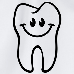 Zahn- / Tooth- / Dent- / Diente- / Dente-Smiley - Turnbeutel