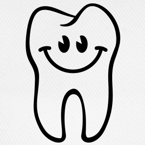 Zahn- / Tooth- / Dent- / Diente- / Dente-Smiley - Baseballkappe