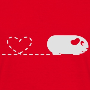 'Pooping Heart' Guinea Pig Umbrella - Men's T-Shirt