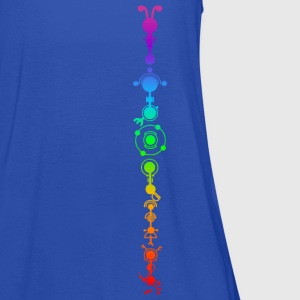 Crop circle - multidimensional human development T-shirts - Dame tanktop fra Bella