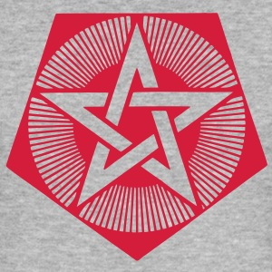 Light Pentagram - crop circle - Bedfordshire GB Tröjor - Slim Fit T-shirt herr