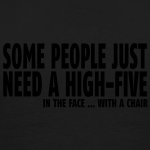 some people need a high five in the face II Polo Shirts - Men's Premium T-Shirt