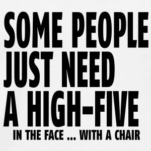 some people need a high five in the face I Övrigt - Premium-T-shirt herr