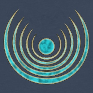 Moon amulet Blue Moon - intuition, creativity and media skills, digital, protection symbol T-Shirts - Men's Premium Longsleeve Shirt