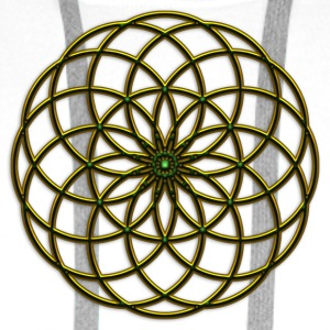FEEL THE FORCE! Seed of Life - Tube Torus, digital, gold, energy, symbol, protection, powerful, icon Muggar - Premiumluvtröja herr