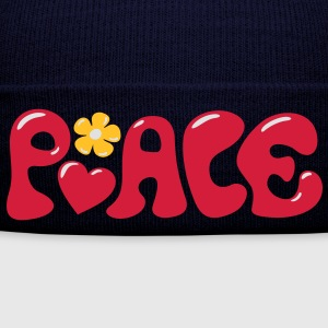 3-D Peace. Kærlighed & Happiness - Heart og Flower T-shirts - Winterhue